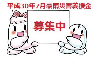 平成30年7月の豪雨災害による義援金の募集について
